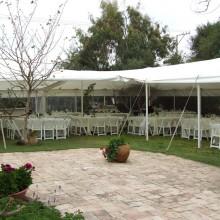 אוהל מתיחה נגד גשם - באירוע חתונה- בית פרטי