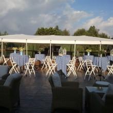 אוהל מתיחה נגד גשם - גן ארועים - חוות רונית