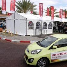 אוהל קונסטרוקציה - ארוע מכירות - חברת קיה