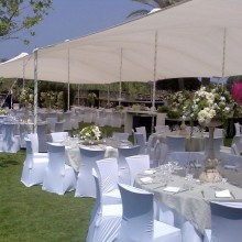 רשת צל בארוע- גן אירועים - חוות רונית