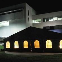 אוהל קונסטרוקציה- פתרון נגד גשם לאירוע- האקדמית תל אביב-יפו