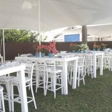 הצללה באירוע- גן אירועים - על הים